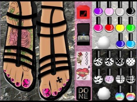 Juego para pintar u as de los pies youtube - Unas modelos para pintar ...