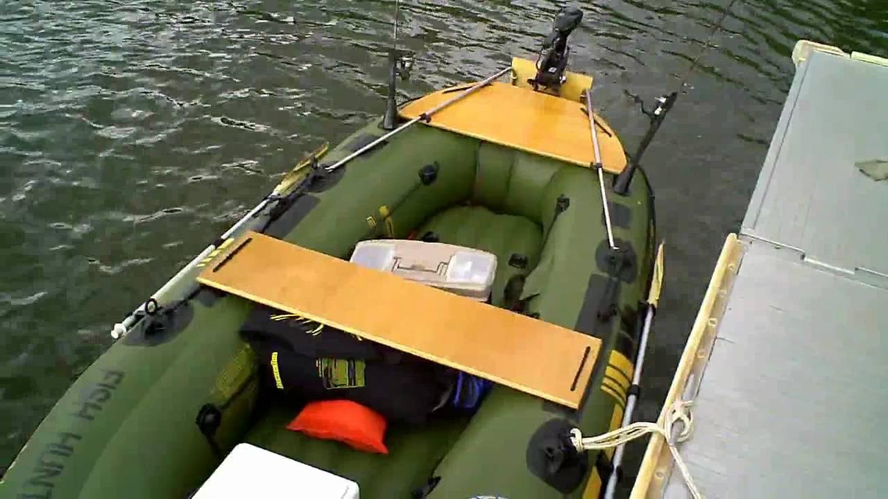тест лодки с транцем видео