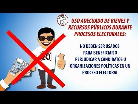 USO ADECUADO DE BIENES Y RECURSOS PÚBLICOS DURANTE PROCESOS ELECTORALES