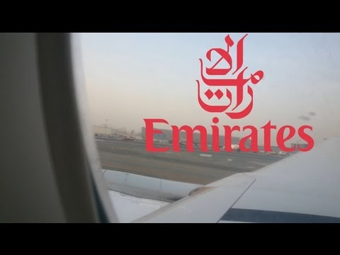 Emirates EK 368 Take-Off Dubai to Jakarta DXB-CGK Economy Class