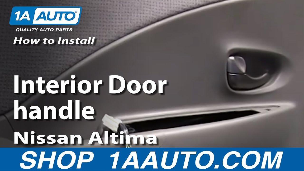 How to install replace fix broken interior door handle for 03 nissan altima door handle replacement