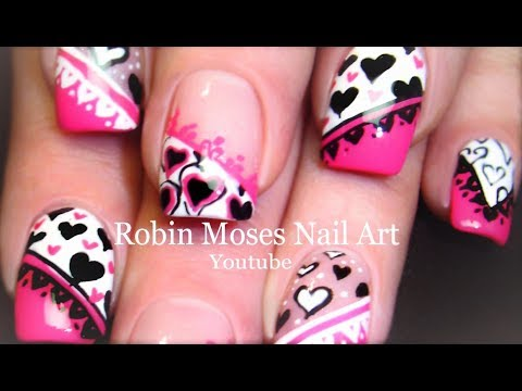 Valentine Nail Art Mash Up