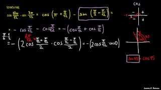 Faktorizacija trigonometričnih izrazov – naloga 5