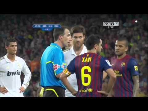 Marcelo, Özil, Villa Red card (Barcelona vs Real Madrid) 2011