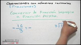 Convertir fracción mixta a fracción impropia