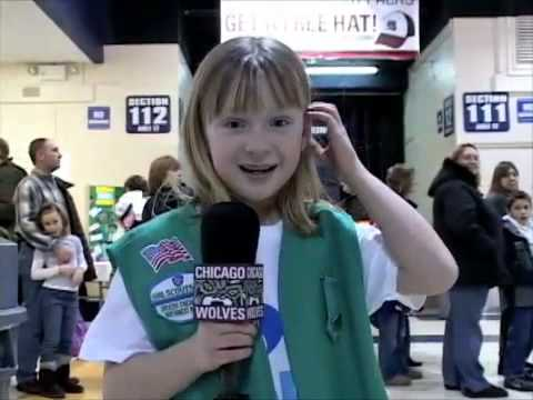 Girl Scout Cookie Kick-Off with the Chicago Wolves