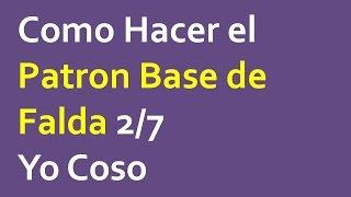 Como Hacer El Patron Base De Falda 2/7
