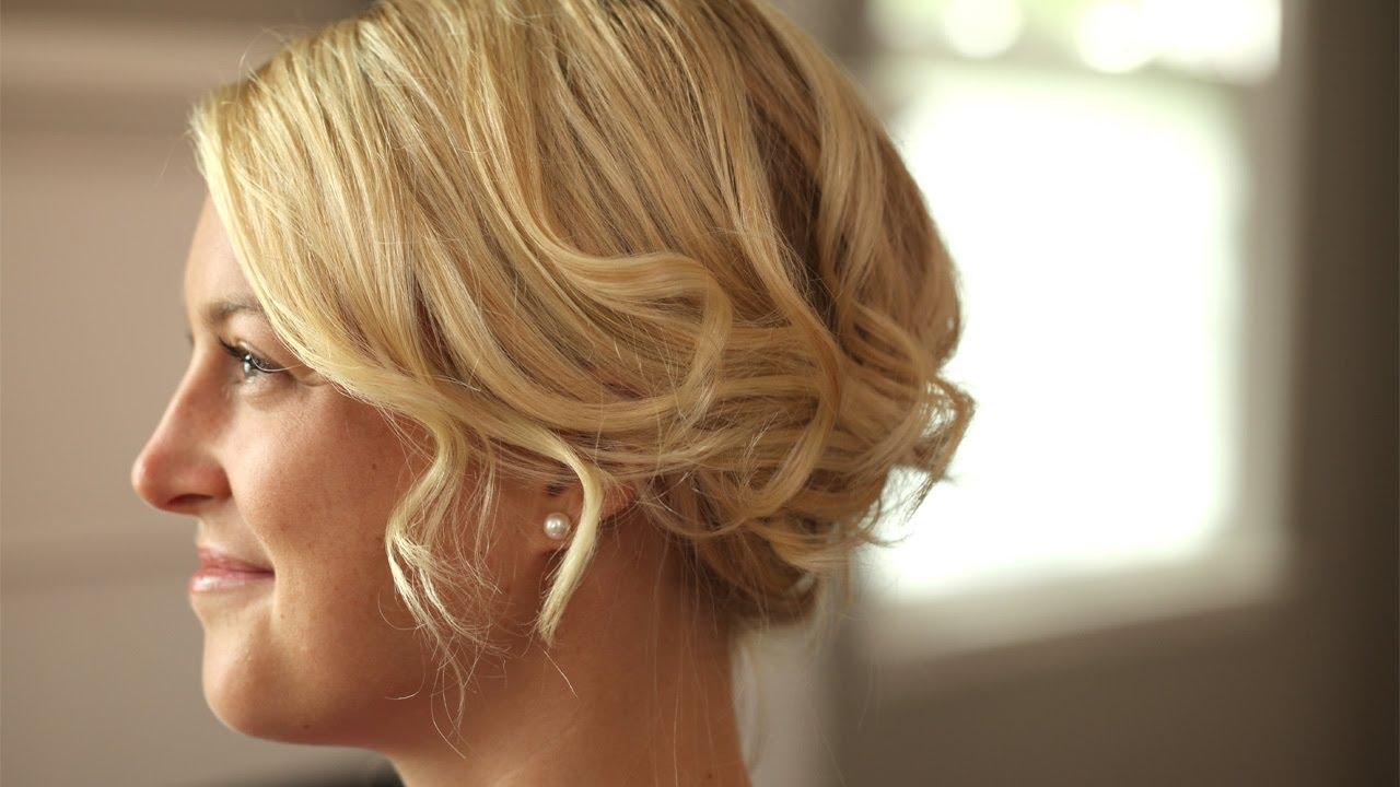 How to Create a Romantic Up-Do for Short Hair || KIN BEAUTY - YouTube