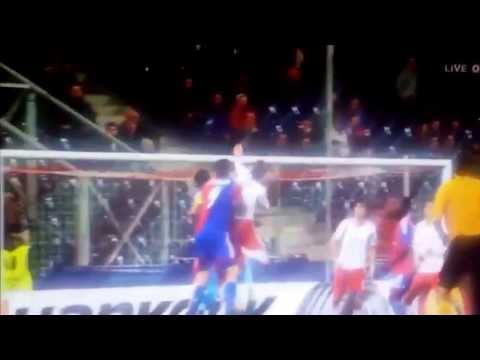 Salzburg vs Basel.      1:1 durch Streller