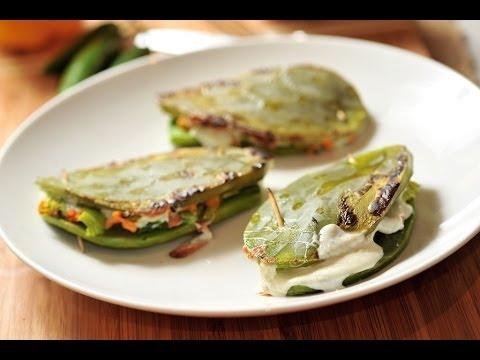 Nopales rellenos recetas de cocina mexicana baked for Canal cocina mexicana