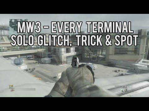 MW3 EVERY Terminal Glitch, Tricks, Spots & Survival Mode Glitch - SOLO