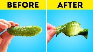 30 maneras de cortar frutas y verduras que te sorprenderán