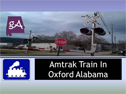 Amtrak Train In Oxford Alabama
