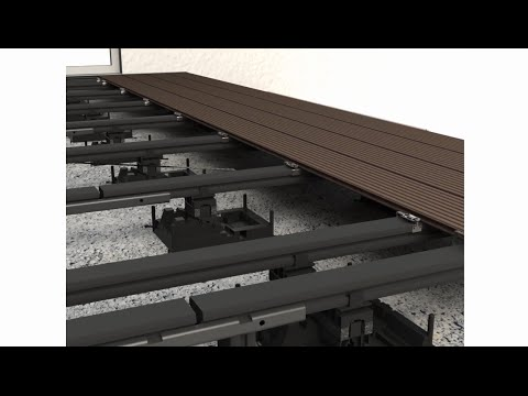 Megawood WPC Terrassendielen Verlegevideo (geschlossenes Deck)