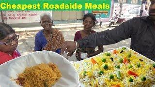 Chennai Cheapest Roadside Meals   Vegetable Biryani @ 30 Rs   Street Food India