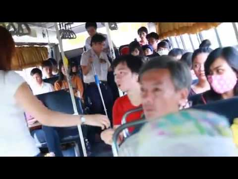 Dưa Leo Cưa Gái Trên Xe bus, funny clip, hai huoc 2014, kinh nghiem tan gai