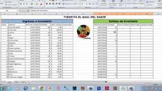 Como llevar un   inventario fácil en Excel