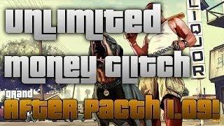 "GTA V Online: ""NEW"" UNLIMITED MONEY GLITCH! - AFTER PATCH 1.09!"