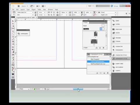 how to create page numbers in indesign