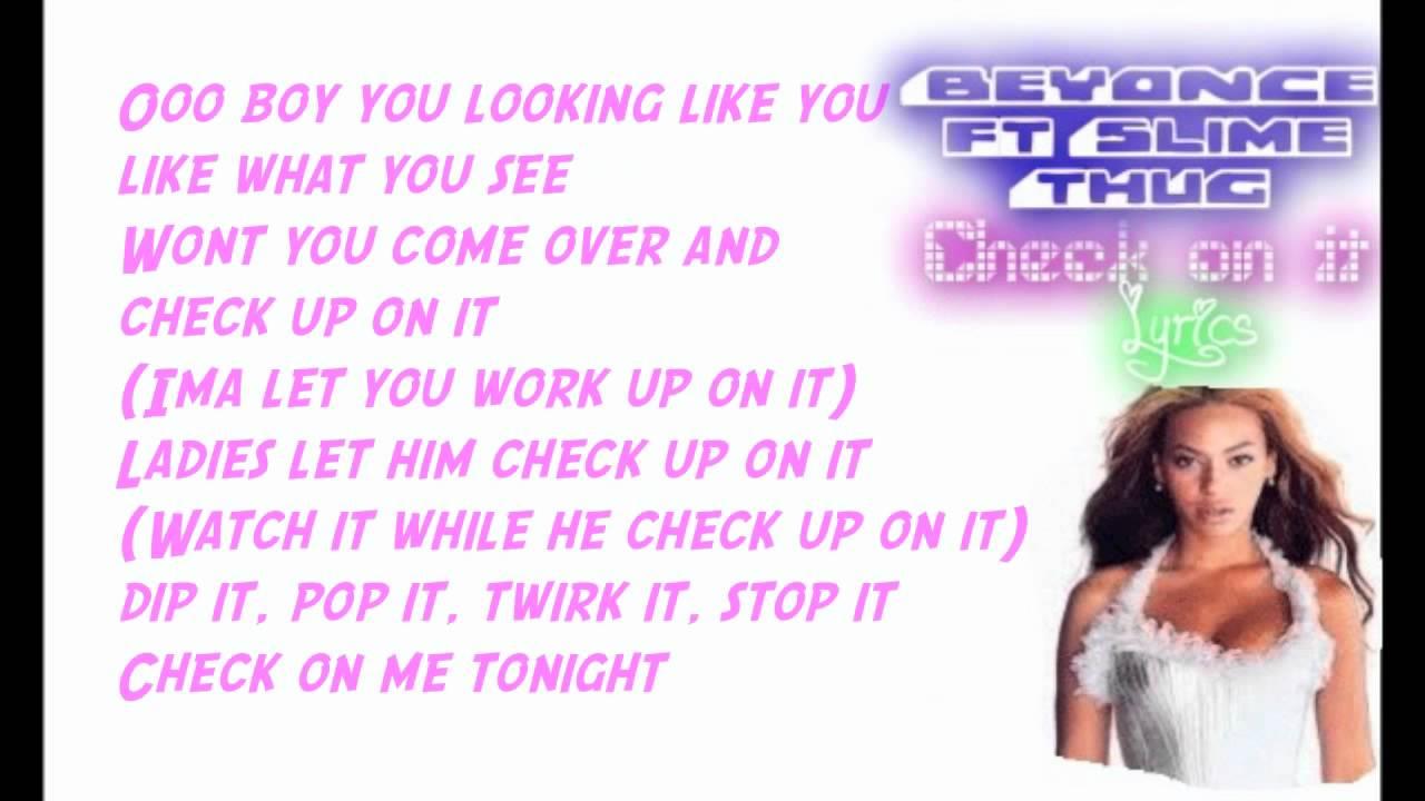 beyonce check lyrics