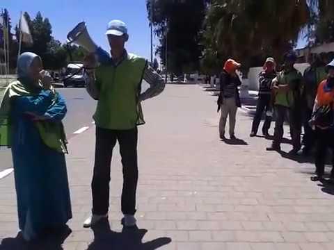 الكلمة الختامية للاعتصام الانذاري للمعطلين امام العمالة