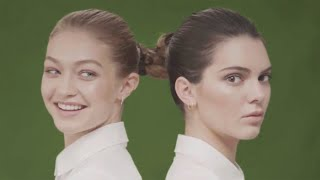 Gigi Hadid Can't Keep a Straight Face on Set With Kendall Jenner | W Magazine
