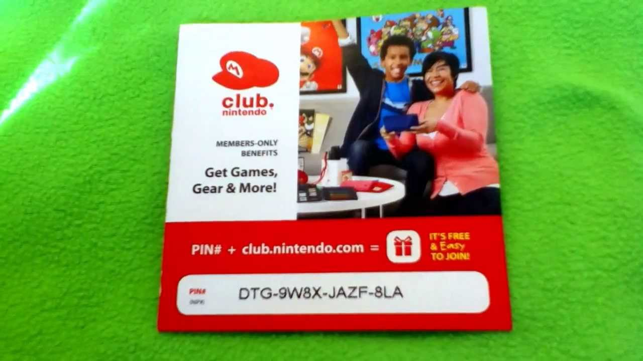 Club nintendo download code not working
