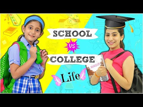 STUDENT LIFE - School vs College ...| #Fun #Sketch  #RolePlay #Anaysa #MyMissAnand