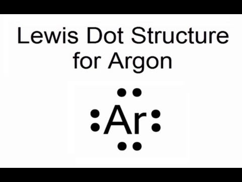 lewis dot structure for argon atom  ar