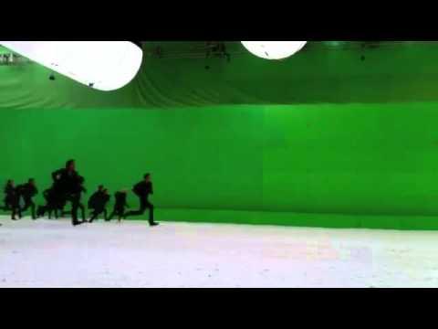 Escenas detrás de cámara de Amanecer Parte 2 en la batalla.