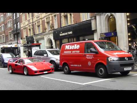 Ferrari F40 Driving Down Sloane Street in London