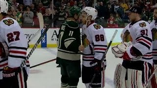 Kane Mic'd Up During Wild - Blakhawks Handshake Line (video)
