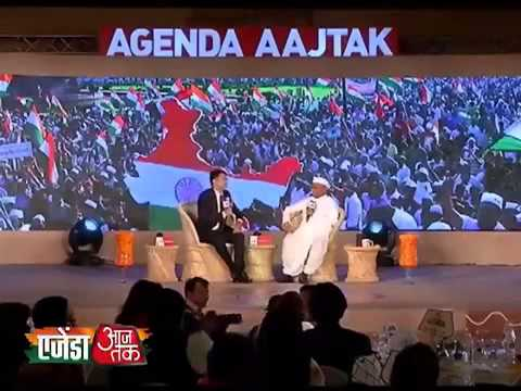 Agenda Aaj Tak 2013: Kejriwal did not betray me says Hazare