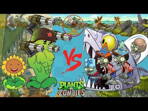 PLANTS VS ZOMBIES HEROES - Peashooter level 1 level 1000 vs Zombies Boss