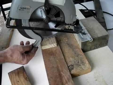 Cómo hacer una ingletadora casera, con una sierra circular portátil (1)..