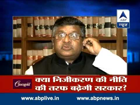 Law Minister Ravi Shankar Prasad talks to ABP News over govt policies
