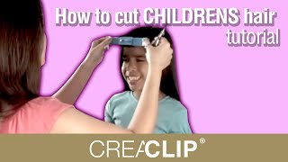 How To Cut CHILDRENS Hair Tutorial- Kids Bangs, Layers