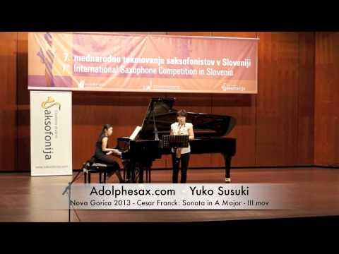 Yuko Susuki – Nova Gorica 2013 – Cesar Franck: Sonata in A Major III mov