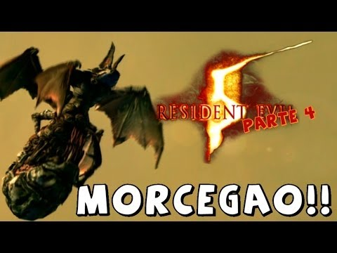 Resident Evil 5 - Minas Escuras e Chefe Morcego Gigante Mutante