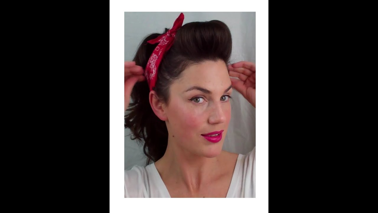 1950s hairstyles for long hair tutorial