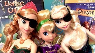 Tinker Bell With Pirate Elsa & Pirate Anna Play Doh Disney