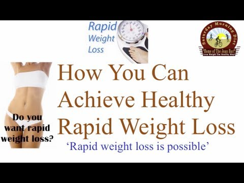 How To Achieve Healthy Rapid Weight Loss  on the Saturday Morning Diet