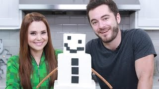 MINECRAFT SHORN SNOW GOLEM CAKE ft CaptainSparklez! - NERDY NUMMIES