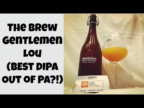 The Brew Gentlemen Lou (2016) (Best DIPA of 2016?!) Review - Ep. #887