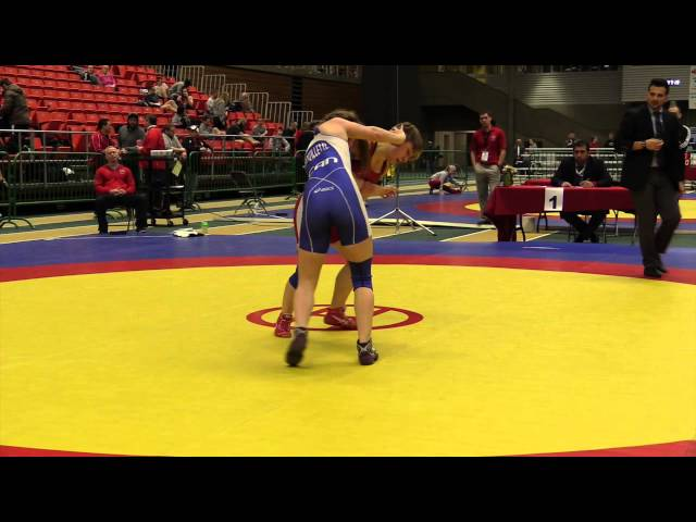 2014 Junior National Championships: 59 kg Wrestleoff Haley Heffel vs. Jessica Brouillette