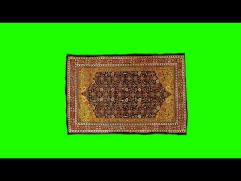 kyrgyz traditional carpet in green screen free stock footage