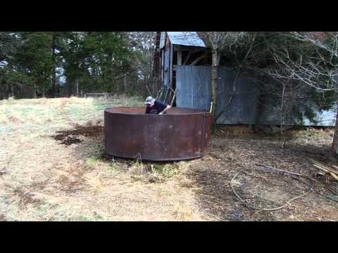 4' Long Propane Scrap Torch - Cutting 5000 Gallon Water Tank pt2