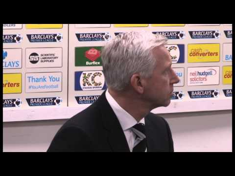 "Alan Pardew discusses his ""headbutt"" on David Meyler in Newcastle's 4-1 at Hull City."