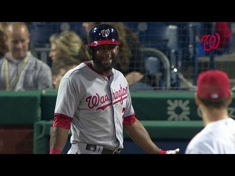 WSH@PHI: Benches clear after Span's RBI groundout
