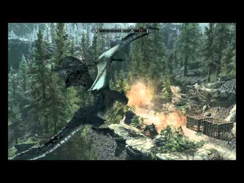 Полет на драконе из Солстхейма в Солитьюд